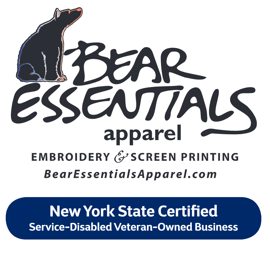 Bear Essentials Apparel Embroidery and Screen Printing Website - New York State Certified Service-Di